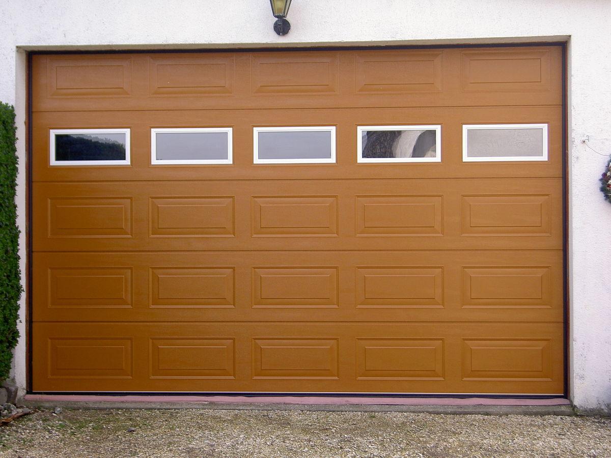 Nueva puerta de garaje seccional