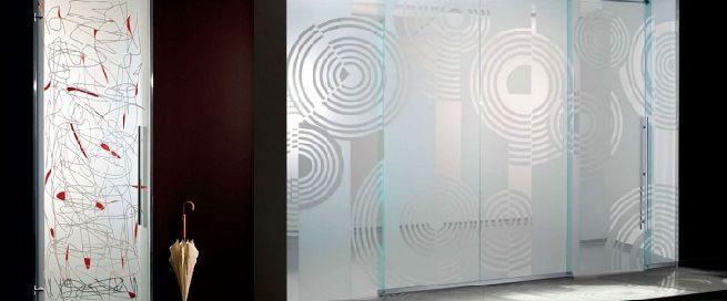 Originales puertas de cristal