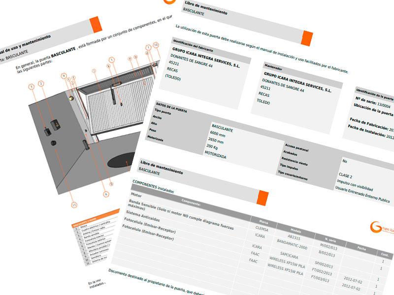 Ejemplo, manual de uso y libro de mantenimiento